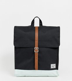 City backpack in black and blue base