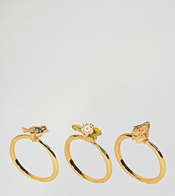 Gold Plated Birdhouse STACKING Rings - Gold