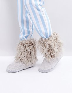 Jean Short Faux Fur Boot - Gray
