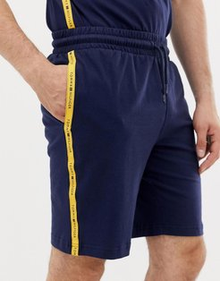 sweat shorts with contrast taping in navy - Navy