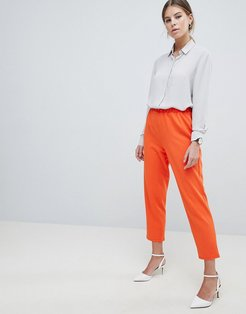 Pull On Tapered Pants In Jersey Crepe - Orange
