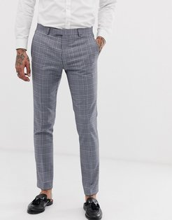 super skinny suit pants in gray check