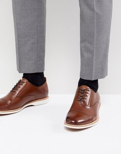 Diggs Leather Lace Up Shoes - Tan