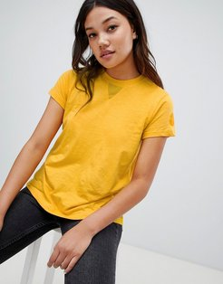 Tee With Mesh Side Panel Insert - Yellow