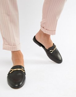 Moves leather mule loafers - Black