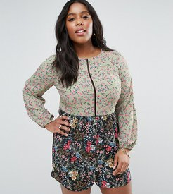 Mix And Match Floral Romper - Multi