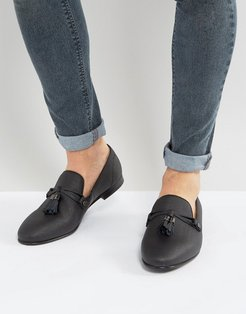 Mccrery Texture Tassel Loafers - Black