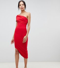 Asymetric Bodycon Dress - Red