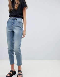Donna High Rise Mom Jeans - Blue