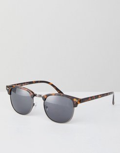 Square Sunglasses In Brown Pattern - Brown
