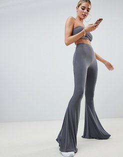 flared PANTS Two-piece in gray - Gray