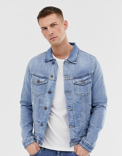 Intelligence denim jacket in light wash