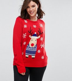 Holidays Reindeer Sweater - Red