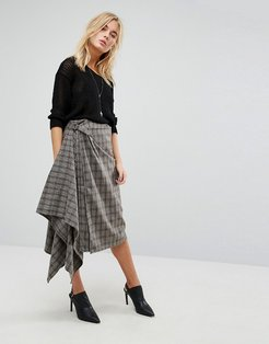 Checked Skirt - Gray