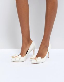 Tie The Knot Skalett Heeled Shoes - White