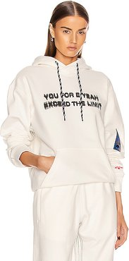 Graphic Hoodie in White
