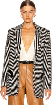 Sedov Weekend Blazer in Black,Stripes,White