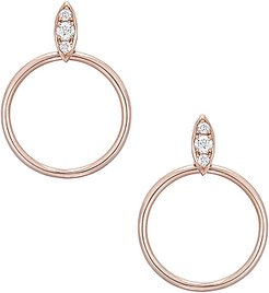 Lucienne Hoops in Metallics