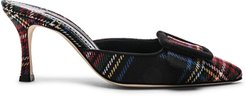 Maysalebi Plaid 70 Heel in Black,Plaid,Red. - size 41 (also in 36.5)