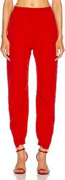 Cut Up Tracksuit Pant in Red