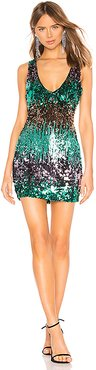 Sofie Sequin Mini Dress in Turquoise. - size XXS (also in M)