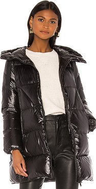 Hooded Down Jacket in Black. - size 38 (also in 40,42)