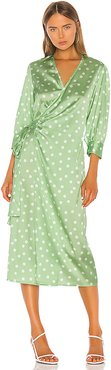 Cowry Dot Dress in Green. - size XS (also in S,M)