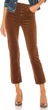 Isabelle Button Up Pant in Brown. - size 25 (also in 24,26,27,28,29)