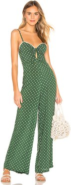 x REVOLVE Lana Jumpsuit in Green. - size L (also in S,XS)