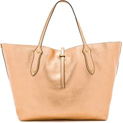 Large Isabella Tote in Metallic Copper.