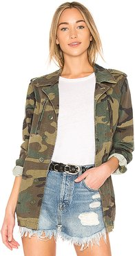 French Field Coat in Green. - size M (also in XS,S,L)