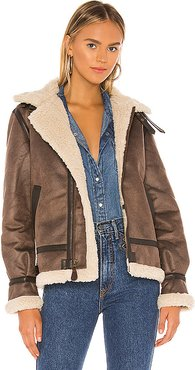 B-3 Sherpa Mod Jacket in Brown. - size M (also in XS,S,L)