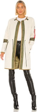 Pile Liner Gen II Utility Jacket With Faux Fur in Cream. - size L (also in XS,S,M)