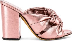 Windsor Knot Block Heel in Metallic Copper. - size 37 (also in 37.5)