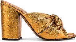 Windsor Knot Block Heel in Metallic Bronze. - size 37 (also in 36,36.5,37.5,38,40)