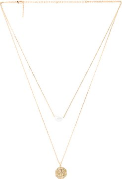 Hailey Necklace in Metallic Gold.