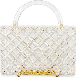 Top Handle Bag in White.
