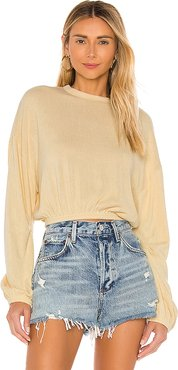 Melo Long Sleeve Top in Yellow. - size L (also in XS,S,M)