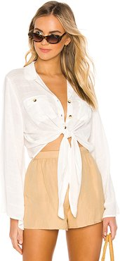 Hammock Button Up Top in White. - size M (also in L)