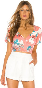 Beach Baby Crop Top in Pink. - size S (also in XS,M,L)