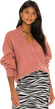Maxwell Cardigan in Rose. - size S (also in XS,M,L)