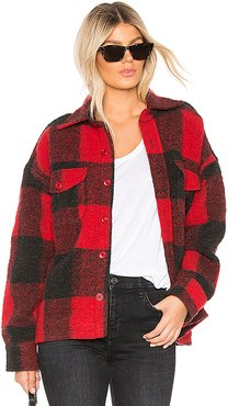 Bobbi Flannel Jacket in Red. - size XS (also in L,S)