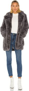 Sophie Faux Fur Coat in Gray. - size M (also in S,XS)