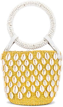 Kaia Mini Bucket Bag in Yellow.