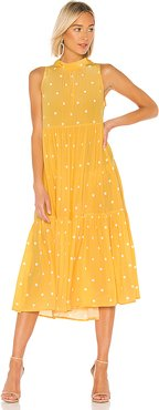 Long Neck Tie Dress in Yellow. - size L (also in M)