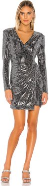 Showstopper Dress in Metallic Silver. - size L (also in S,XS,M)