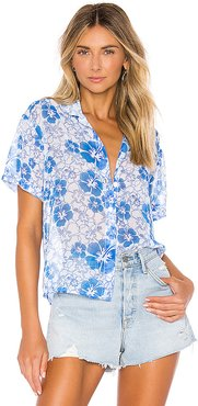 Nora Shirt in Blue. - size XS (also in S)
