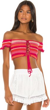 Willie Bandeau Top in Pink. - size M (also in XS,S,L)
