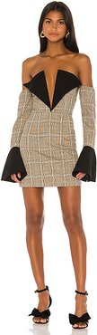 Sharp Edges Dress in Tan. - size XS (also in L,M,S)