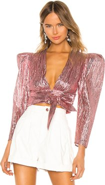 Close Call Crop Top in Pink. - size M (also in L,S,XS)
